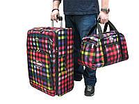 Легкий тканевый чемодан большого размера на 2-х колесах+сумка  Foxy Line Morena