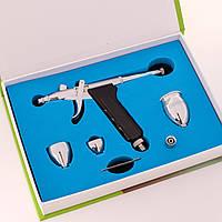 Аэрограф для визажа и дизайна ногтей (компрессор в набор не входит)