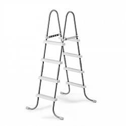 Лестница для бассейнов серого цвета, высота 122 см Intex (28066)