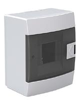Щит (бокс) на 4 автомата накладной белый
