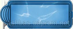 """Стационарный стекловолоконный усиленный бассейн """"Одесса"""" 10,3х3,7 глубиной 1,5м."""