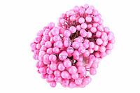 Калина декоративная Pink (двусторонняя), цвет розовый, пенопласт на проволоке, декор для дома, калина исскуственная