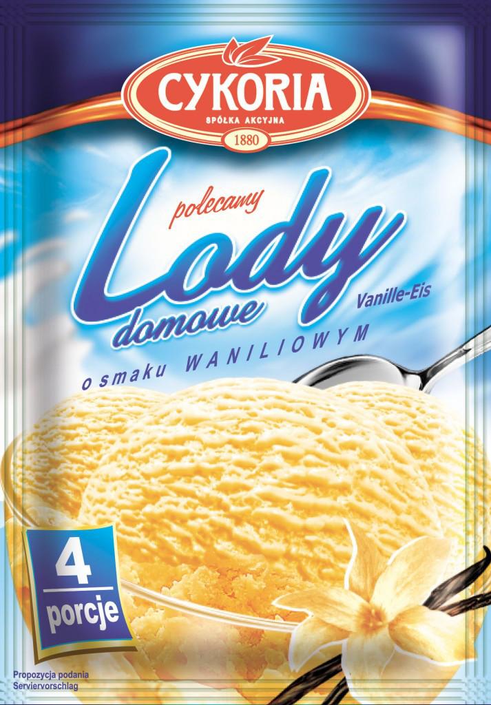 Lody domowe Cykoria порошок для приготування морозива з ванільним смаком 60 гр.