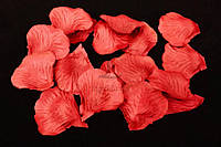 (Цена за 1400шт) Искусственные лепестки роз для творчества, красного цвета, длина 4.5см,  ширина 4.5см, Декоративные лепестки роз, Цветные лепестки