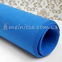 Фетр жесткий 1 мм, лист 50х40 см, св.синий (Китай)