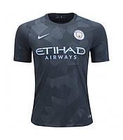 Детская футбольная форма Манчестер Сити черная  сезон 2017-2018