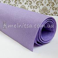 Фетр жесткий 1 мм, лист 50х40 см, св.сиреневый (Китай)
