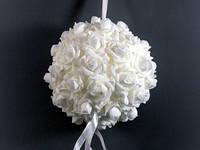 """Украшение для свадебного зала """"Шар из роз"""""""