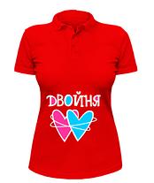Женская футболка-поло Двойня, фото 3