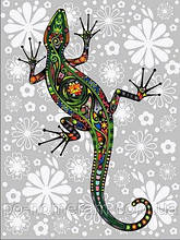 Игра Картины по номерам (VK164) Цветочная ящерица