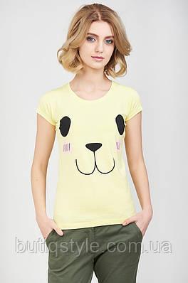 Стильная женская  футболка с принтом мордашка