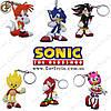 """Брелки Соник - """"Sonic Keychain"""" - 6 шт."""