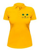 Женская футболка-поло Кошачьи глаза, фото 3