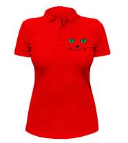 Женская футболка-поло Кошачьи глаза, фото 2