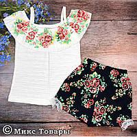 Летний костюм с шортами для девочек Размеры: 2,3,4 года (6212-2)