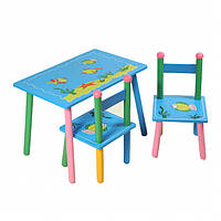 """Столик+2 стульчика, """"Океан"""", столик голубой, столик для мальчика"""