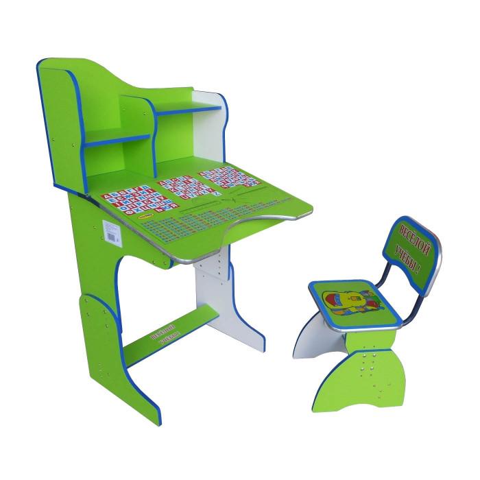 Парта + стул 2071 Green, парта для мальчика, порта зелёная