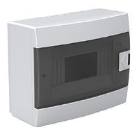 Щит (бокс) на 8 автоматов накладной белый
