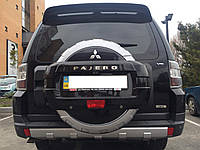 Чехол-бокс запасного колеса Mitsubishi Pajero Wagon 2007-2016 ABS пластик под покраску