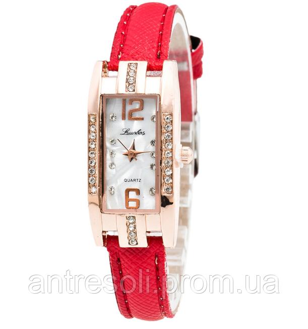 Наручные женские часы с красным ремешком код 251