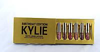 Помада Kylie 8607 gold набор 6 шт, kylie jenner, Матовые помады kylie, Стойкая матовая помада