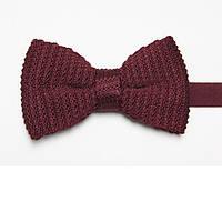 Bow Tie House Бабочка вязаная вишневая однотонная