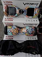 Гироскутер Гироборд VIPER SUPER PLUS 6.5 IPP дюйм CARTOON 16 расцветок само баланс Блютуз Сумка Led