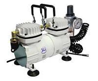 Миникомпрессор низкого давления с регулятором,фильтром и шлангом 1/6HP MC-1103HFRGM
