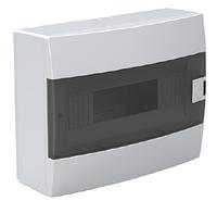 Щит (бокс) на 12 автоматов накладной белый