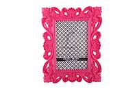 """Декоративная рамка """"Patterns"""" для фото, прямоугольная, розовая, ширина 15.5см, высота 22см, пластик, Фоторамка, Рамка для фото"""
