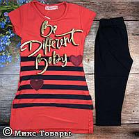 Костюм с бриджами для девочек Размеры: 4-5,5-6,6-7,7-8 лет (6219-1)