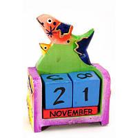 Деревянный календарь Рыба из дерева