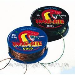 Поводковый материал Kryston Snake Bite 25lb/11,3kg/Gold, 20м