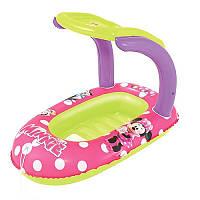 Детский надувной плотик для плавания 91059, 112-71см, в кор-ке