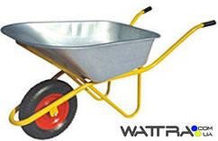⭐ Тачка строительная FORTE WB6418-1 (вода/песок 110/200 л,  250 кг) одноколесная с усиленной рамой