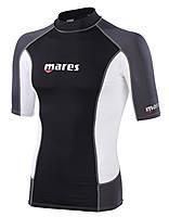 Мужская лайкровая футболка с уф защитой Mares Rash Guard (Trilastic); короткий рукав; размер S