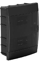Щит (бокс) на 16 автоматов встраиваемый черный