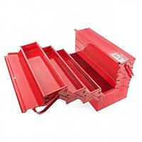 Ящик для инструментов металлический 450 мм, 7 секций INTERTOOL HT-5047, фото 1