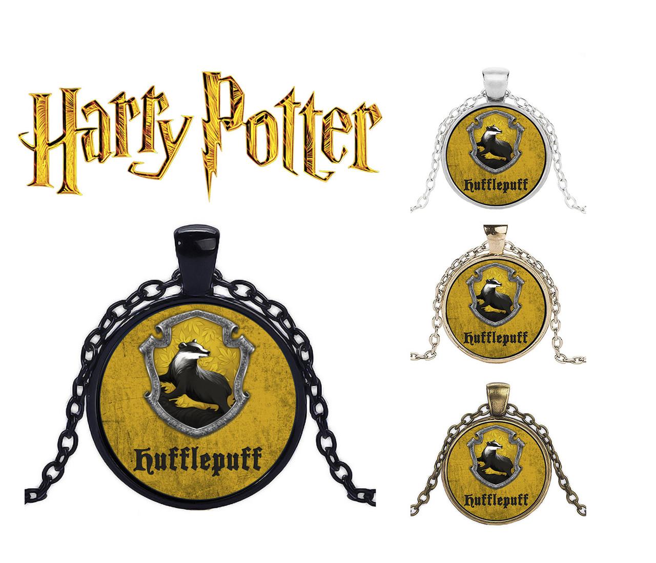 Подвеска  с изображением герба факультета Пуффендуй Хаффлпафф Хогвартса из Гарри Поттера