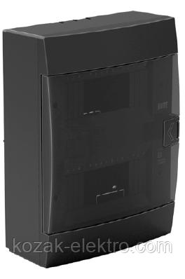 Щит (бокс) на 16 автоматов накладной черный