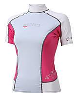 Женская лайкровая футболка для плавания Mares Rash Guard (Trilastic); короткий рукав; розовая