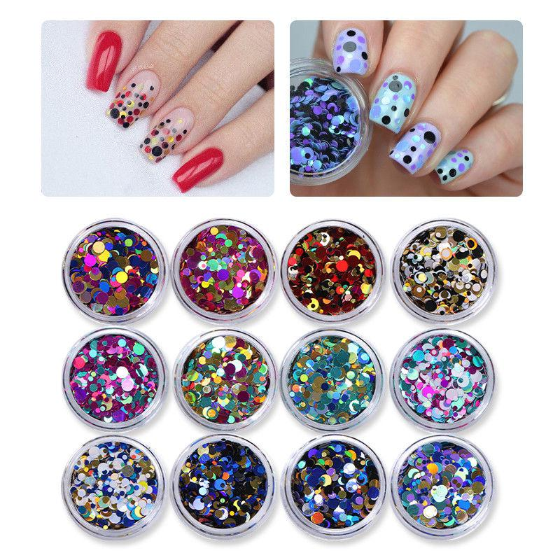 Набор камифубуки для декора ногтей 12 Colors Holographic Nail Art