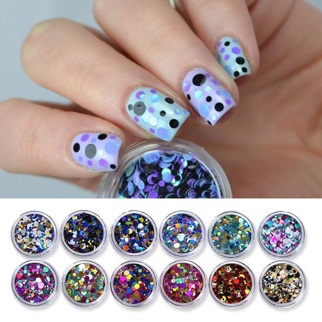 12 Colors Holographic Nail Art
