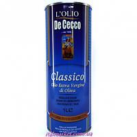 Масло оливковое Де Чеко в ж/б De Cecco extra vergine Classico 1л
