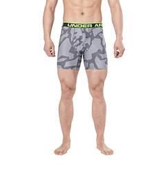 Трусы-боксеры Under Armour Original Series Printed Boxerjock 1242916 M Серые с салатовой резинкой (1242916)