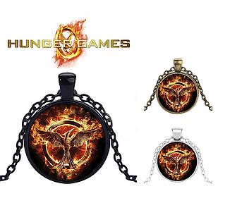 Подвеска  с изображением логотипа сойки Голодные Игры Hunger Games