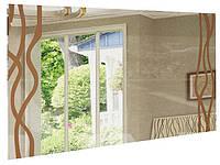 ДЗеркало на стіну з ДСП/МДФ у вітальню спальню Терра 1000х800 ваніль Миро-Марк