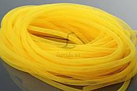 """Декоративный регилин """"Catasetum"""" для рукоделия, желтый, длина 30м, диаметр 8мм, Регилин для декора, Лента для творчества"""