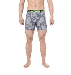 Трусы-боксеры Under Armour Original Series Printed Boxerjock 1242916 XL Серые с салатовой резинкой (1242916)