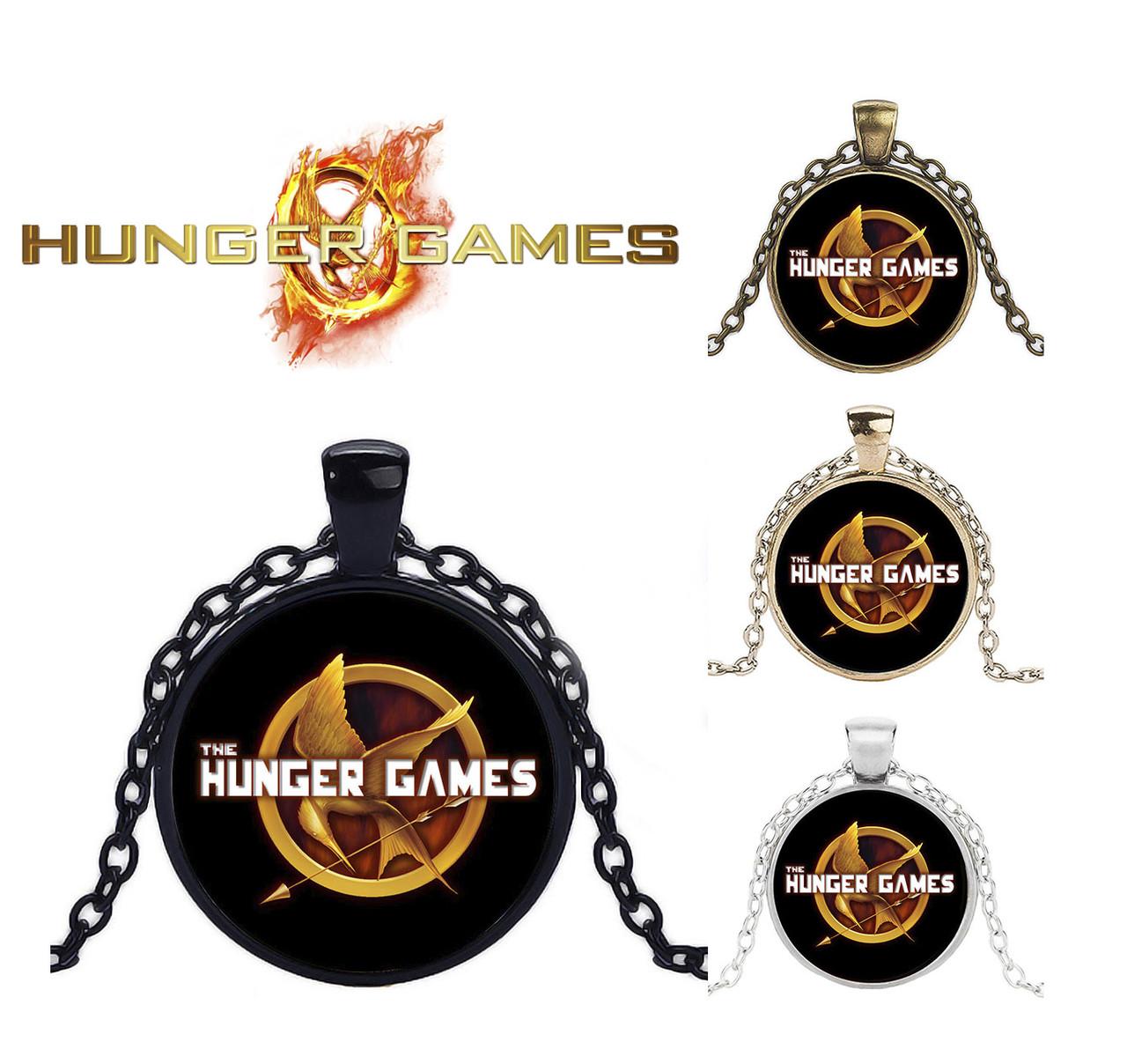 Подвеска  с изображением логотипа Голодные Игры Hunger Games